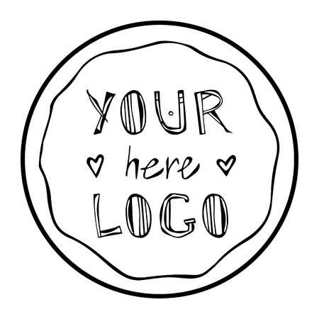 Round Frame. Your Text Here. Isolated Vector Object on White background. Foto de archivo - 114847400
