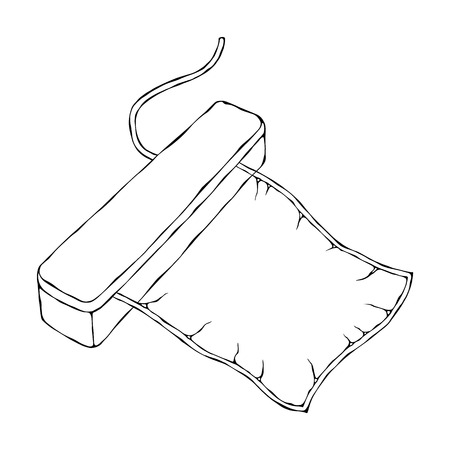Vacuumizer Food Sealer with Vacuum Bag. What is Sous-Vide. Slow Cooking Technology. Perfect Food. Chief Cuisine Collection. EPS10 Vector. Hand Drawn Doodle Style Realistic Illustration Stock Illustratie