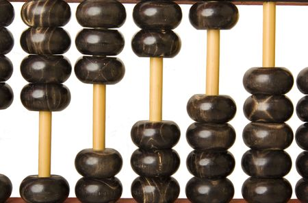 visualizing: Abacus with beads showing a graph scale from 1 up to 5
