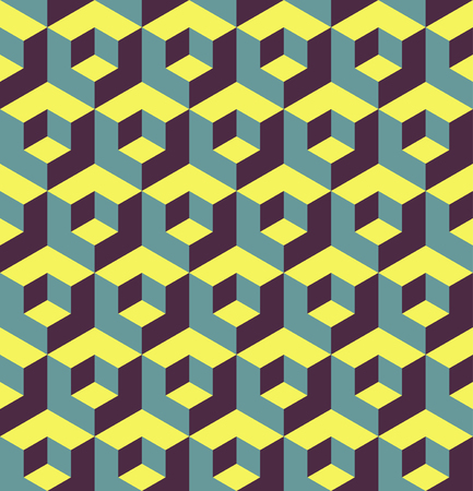 dimension: Abstract 3d geometric seamless pattern. vector illustration