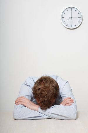A tired business man sleeping Stock Photo - 5367644