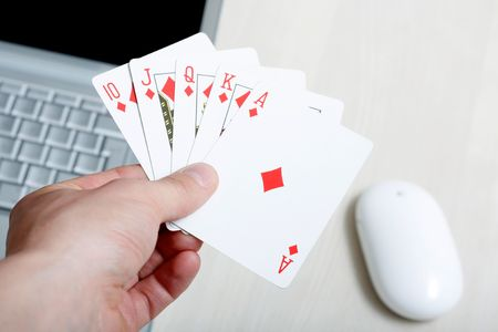 conceptual picture of online poker photo