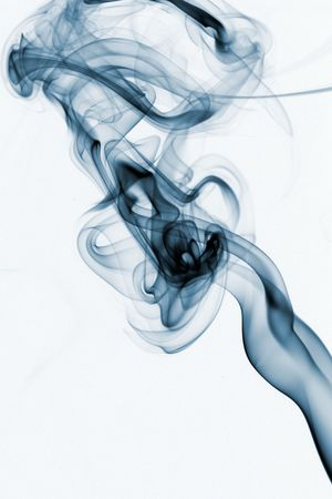 Abstract smoke curling and creating beautiful shapes Stock Photo - 5367482