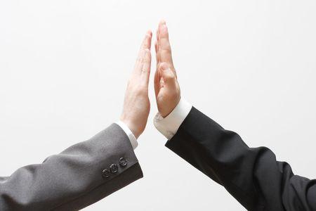 Business men doing a high five