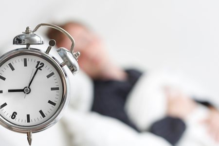 early morning: A man sleeping Stock Photo