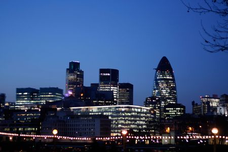 The Gherkin and other modern buildings photo