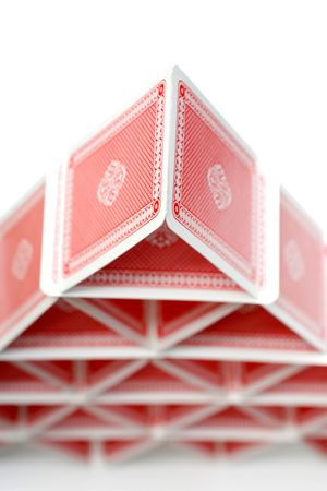 luckiness: A house of playing cards