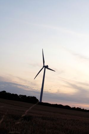 Windmills showing renewable energy in the evening Stock Photo - 5366852