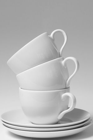 Coffee cups in a stack photo