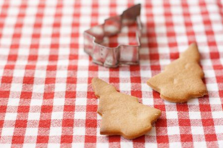 Gingerbread cookies on a table top photo