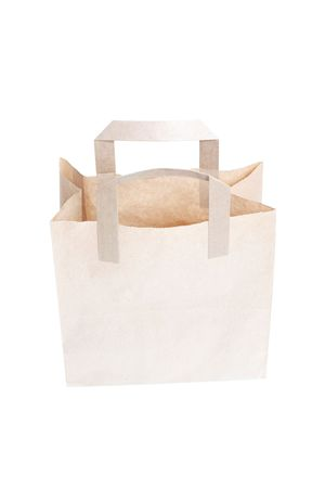 A brown bag isolated on white Stock Photo - 6115648