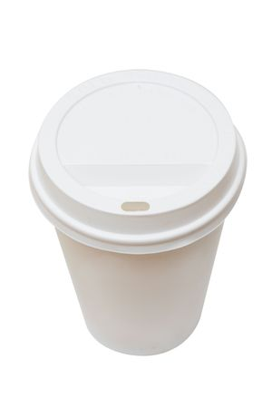 A disposable coffee cup Stock Photo - 6115407