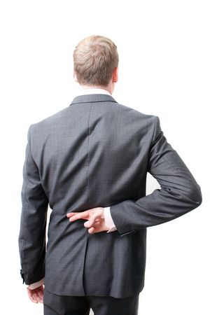 A dishonest business man photo