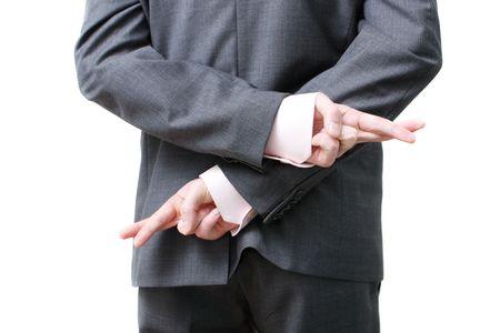 untruth: A dishonest business man