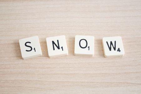 雪の綴り 写真素材