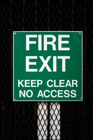 wayout: Fire Exit Stock Photo