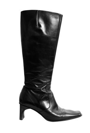 Italian leather boot photo
