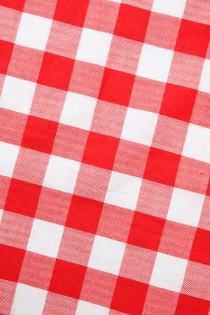 Red textile Gingham photo
