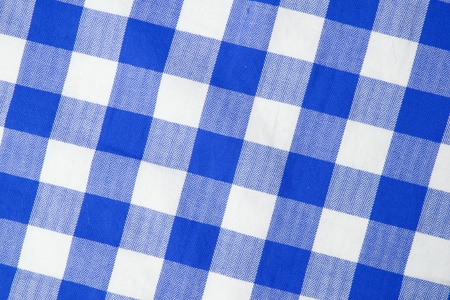 Blue textile gingham background photo