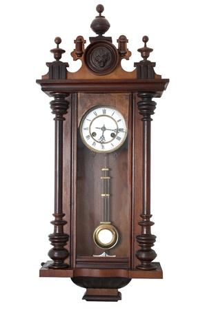 reloj de pendulo: Antiguo reloj de pared Foto de archivo