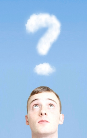 Question mark in the sky photo