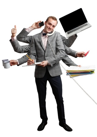 Efficient employee Stock Photo