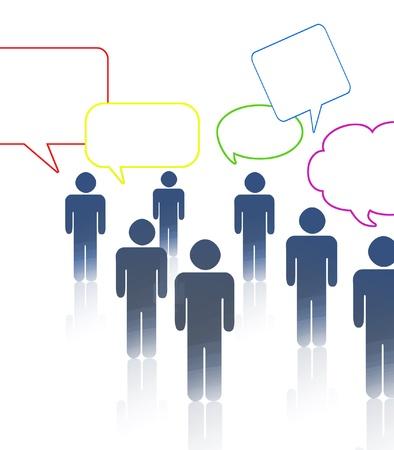 multinational: Communication Stock Photo