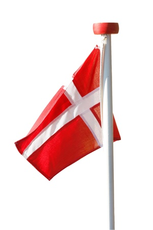 danish: The Danish flag Stock Photo