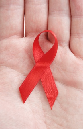 Red ribbon symbol photo