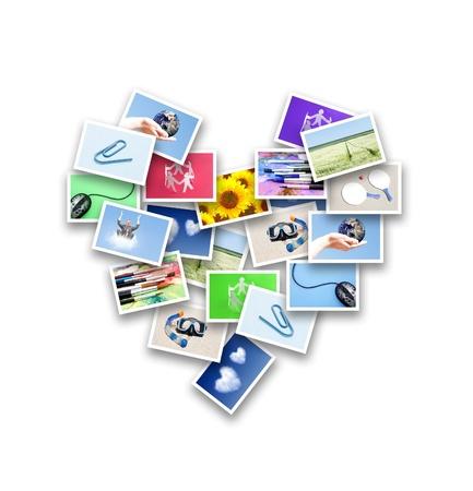 digital memory: Heart of photos