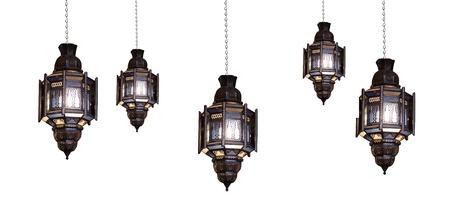 islamic design: Moroccan lamp Stock Photo