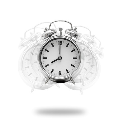 A hand breaking an alarm clock Stock Photo - 8533900