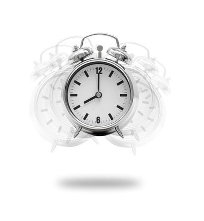 despertador: Una mano rompiendo un despertador