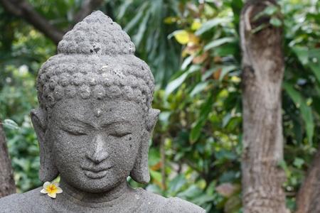 mindfulness: Buddha figuur Stockfoto