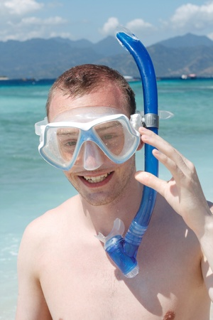 A man snorkelling Stock Photo - 8684352