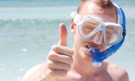 A man snorkelling Stock Photo - 8684359