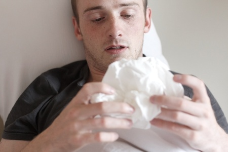 A man with the flu Stock Photo - 8684396