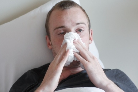 A man with the flu Stock Photo - 8684398