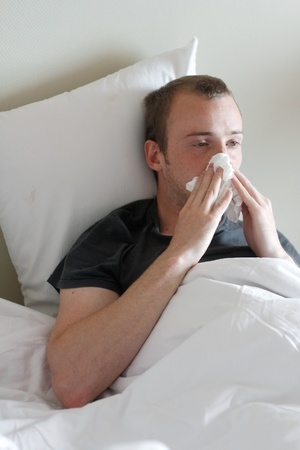 A man with the flu Stock Photo - 8684382