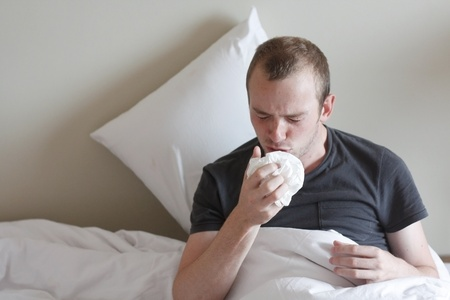 A man with the flu photo
