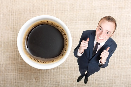 endorsed: A delicious cup of coffee Stock Photo