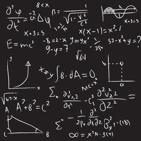 dark background: Equations Stock Photo