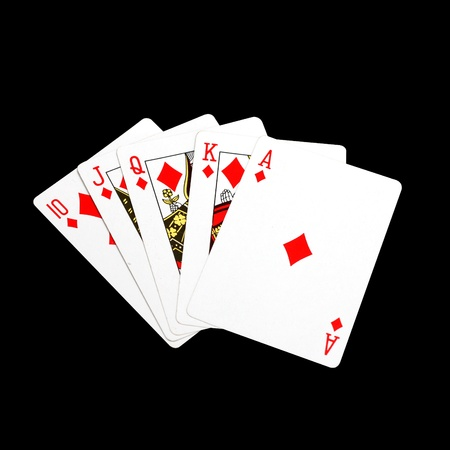 A perfect poker hand Stock Photo - 8535014