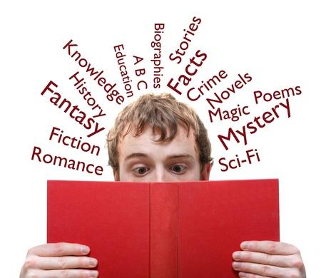 A man reading a book Stock Photo - 8684355