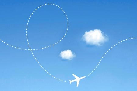 Airplane route Stock Photo - 8534814