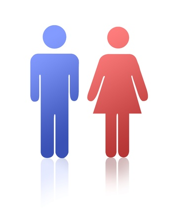 man symbol: Man and woman