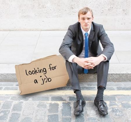 Fired businessman photo