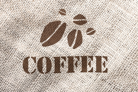 coffee sack: A coffee bag texture