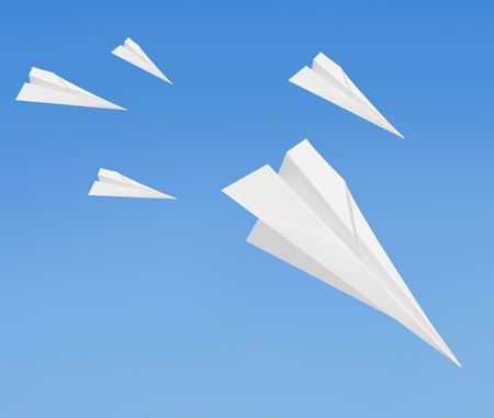 forerunner: Paperplanes Stock Photo