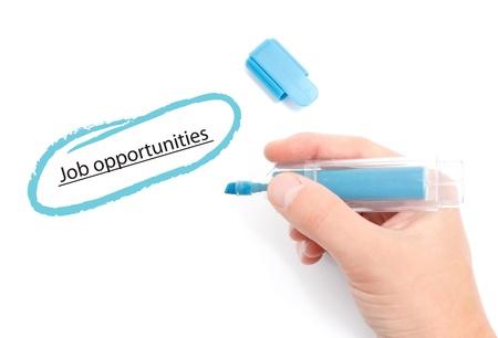 job opportunities: Job opportunities Stock Photo